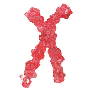 Dryden And Palmer Red Strawberry Rock Candy Strings 5.00Lb Box