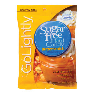 Go Lightly Sugar Free Butterscotch Hard Candy 2.75 Oz Peg Bag 12Ct Case