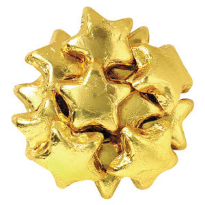 Madelaine Milk Chocolate Foiled Stars Gold 10.00Lb Case