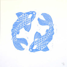 Load image into Gallery viewer, Koi fish 30x30 cm.