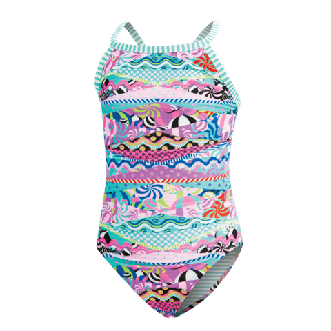 Dolfin Uglies Girls' Swim Suit - Cotton Candy