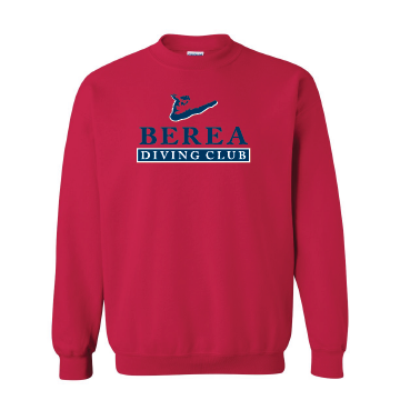 Berea Diving Club Crewneck - Red