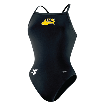 Cuyahoga Falls Female Thin Strap Team Suit w/team logo