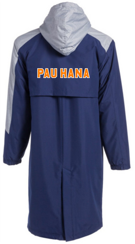 Pau Hana Color Block Parka w/ PAU HANA Block Lettering on Back