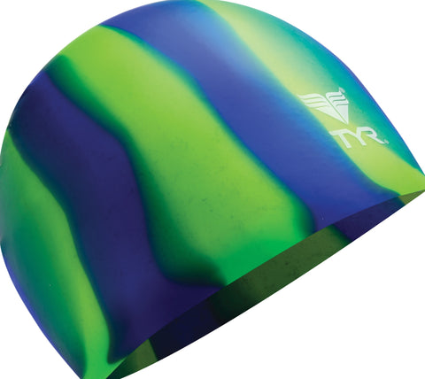 TYR Long Hair Multi-Color Silicone Cap