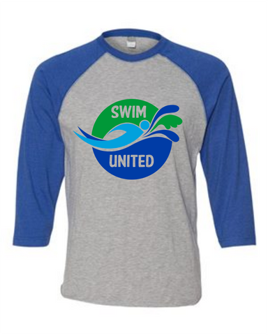 Swim United Raglan Baseball Jersey Tee w/ Last Name
