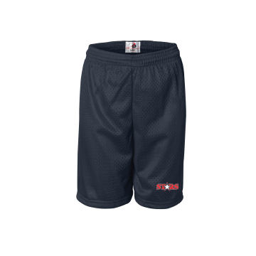 Solon Stars Male Mesh Shorts with Embroidered Logo
