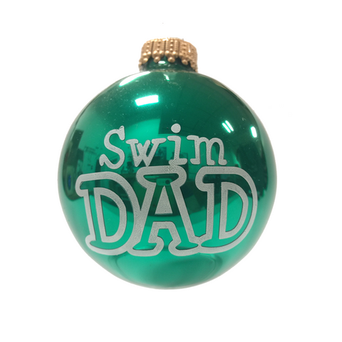 Swim Dad - Holiday Ornament