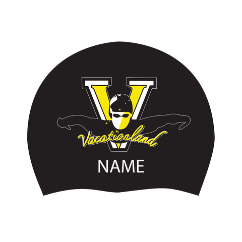 Vacationland Swim Club Silicone Cap w/name