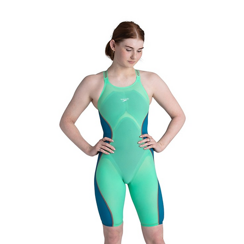 SALE Speedo Pure Intent Green Open Back Kneeskin