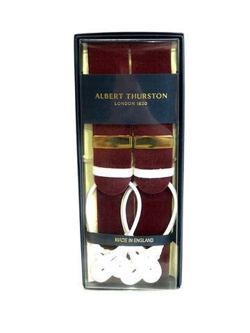 Claret Box cloth Steed Braces by Albert Thurston