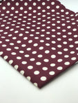 Silk Burgundy with White Polka Dot Pocket Square