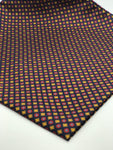 Silk Navy with Red & Gold alternating pattern Pocket Square