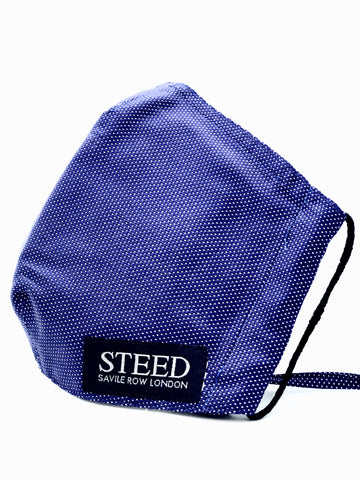 New! Steed branded face mask - Blue Dot (Elasticated & Hand Tie options)
