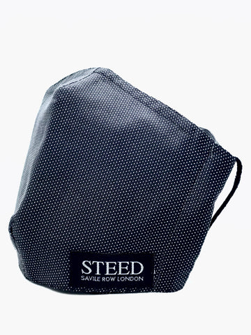 New! Steed branded face mask - Grey Dot (Elasticated & Hand Tie options)
