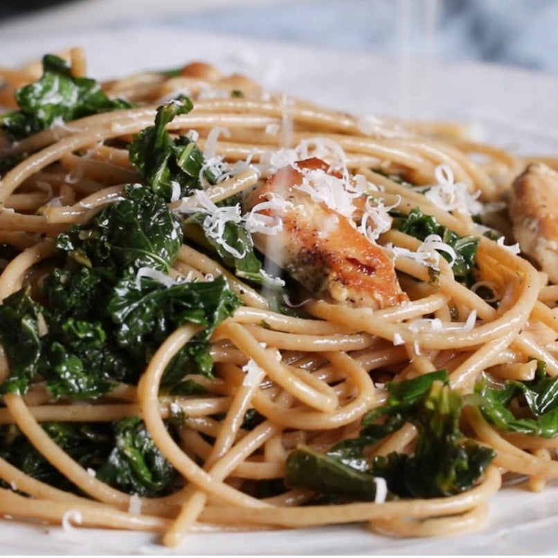 Whole Wheat Pasta With Lemon Kale Chicken