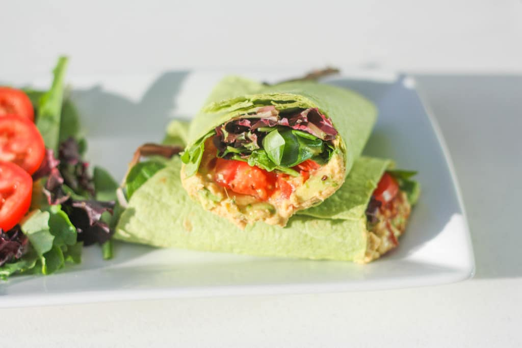 Grilled Vegetable And Hummus Wrap