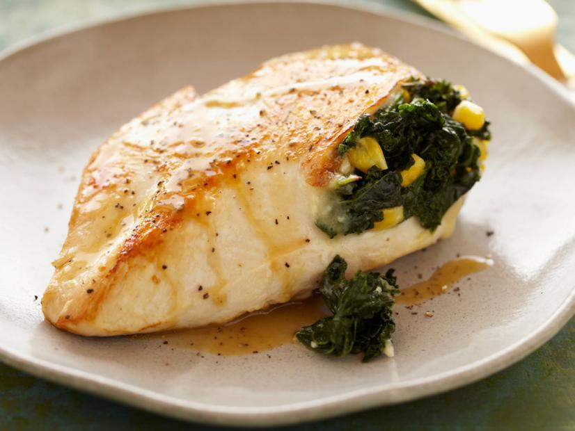 Kale & Corn Stuffed Chicken Breasts