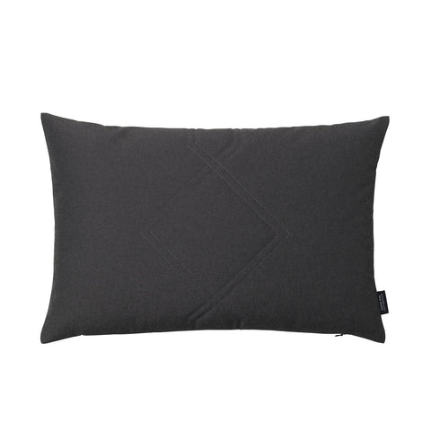 Cotton velvet cushion in remix dark grey.