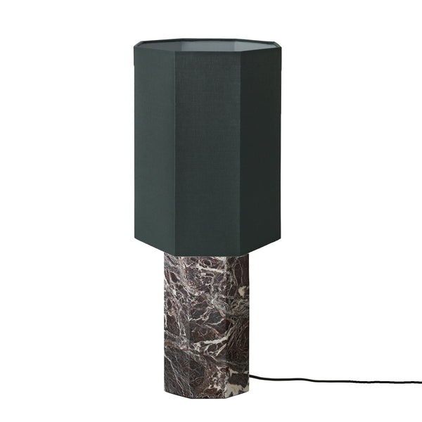 The Eight over Eight Marble Lamp Bordeaux