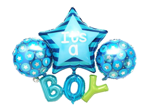 Its A Boy Foil Balloon Combo - Blue Color - Evibe.in