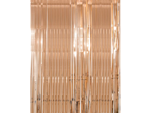 Premium Foil Curtain Backdrop Rose Gold Color - 3 Feet x 6 Feet - Evibe.in