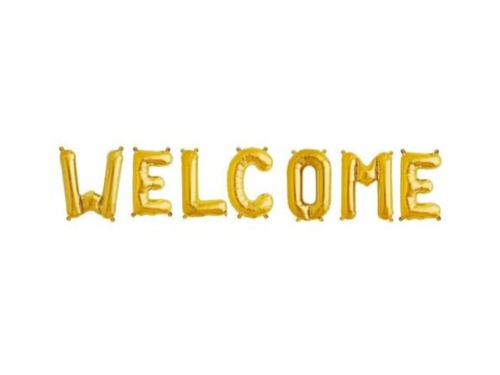 Welcome Foil Banner - Gold Color - Evibe.in