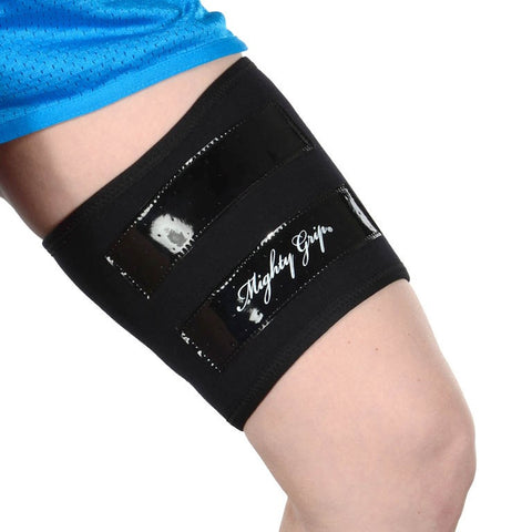 Mighty Grip Inner Thigh Protectors for Pole Dancing with Tack Strips