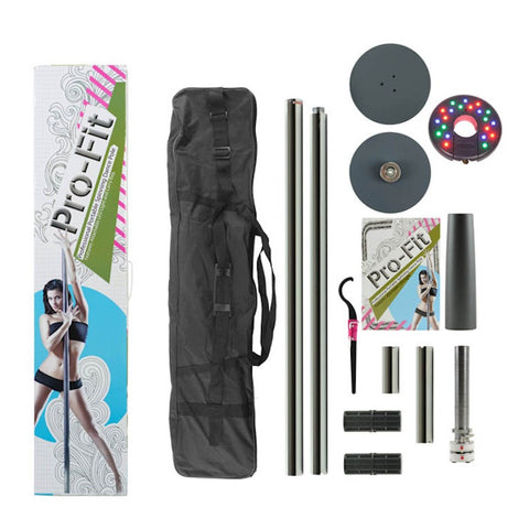 Pro-Fit Portable Dance Pole with LED Light and Carry Bag 45mm or 50mm
