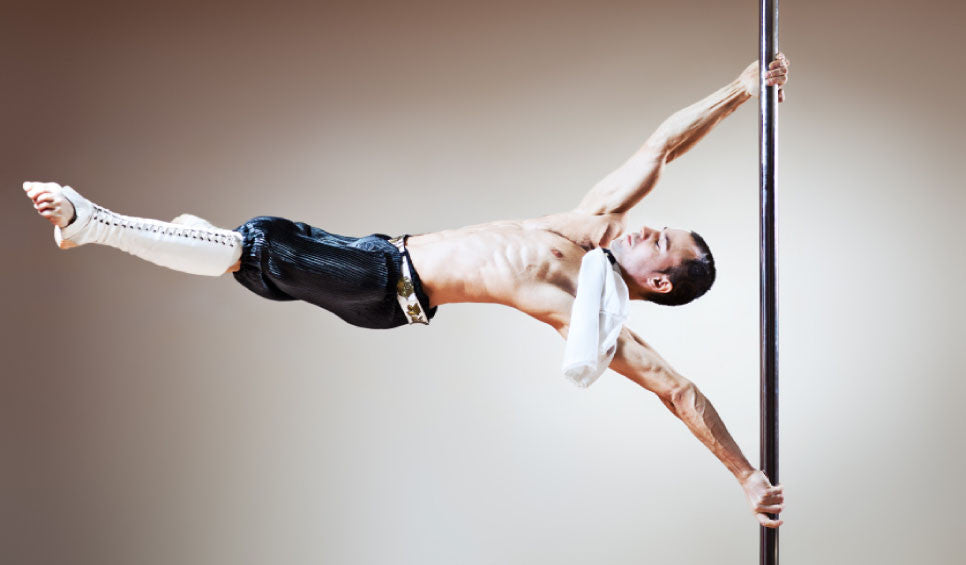Man pole dancing spin alternative fitness afitnesstrend