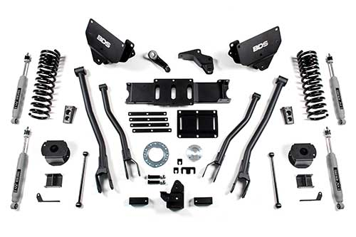 "BDS 6"" 4-Link Suspension System Ram 2500 4WD (Diesel) w/ Rear Air Ride"