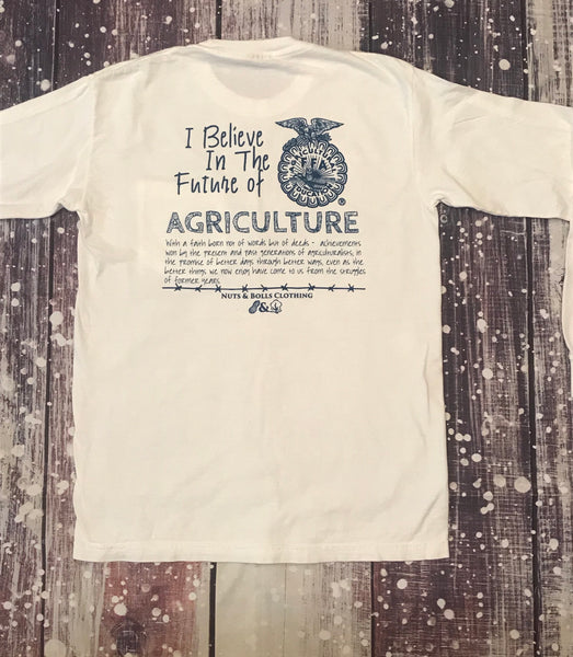 Long Sleeve I Believe in the Future of Ag, White