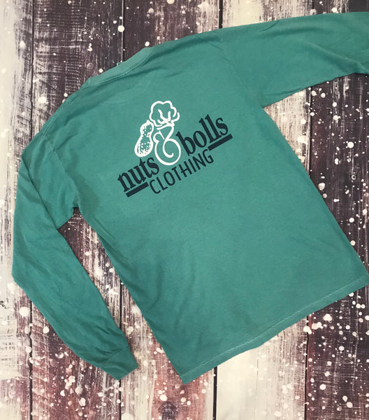 Long Sleeve Signature Collection, Seafoam