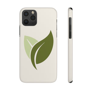 Leaves Only Hard Plastic iPhone Case