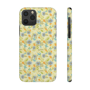 Indian Flower Design Hard Plastic iPhone Case