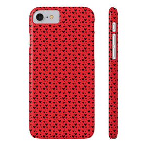Little Heart Bubbles Hard Plastic iPhone Case