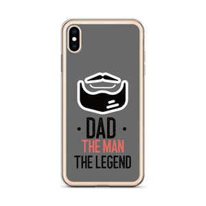 Dad, The Man The Legend TPU and PU iPhone Case