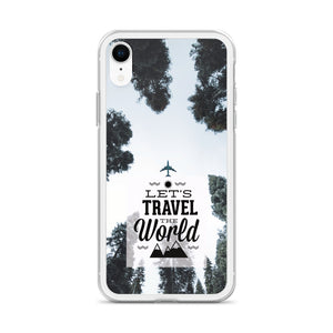 Let's Travel the World TPU and PU iPhone Case