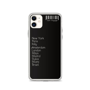 My Travel List Custom Made TPU and PU iPhone Case