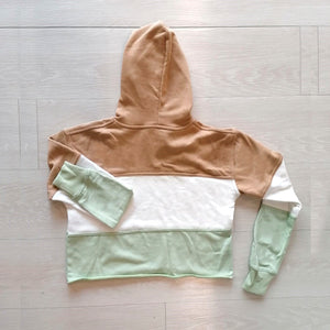 Hoodie | green and brown
