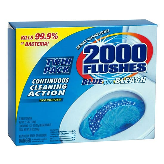 2000 Flushes 2.50 oz. Blue Plus Bleach Toilet Cleaner (2-Pack)
