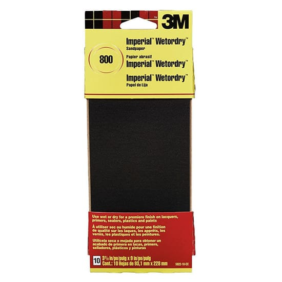 Imperial Wetordry 3-2/3 in. x 9 in. 800 Grit Sandpaper Sheets (10 Sheets-Pack)