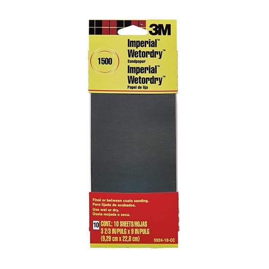 3-2/3 in. x 9 in. 1500 Grit Sandpaper (10 Sheets-Pack)
