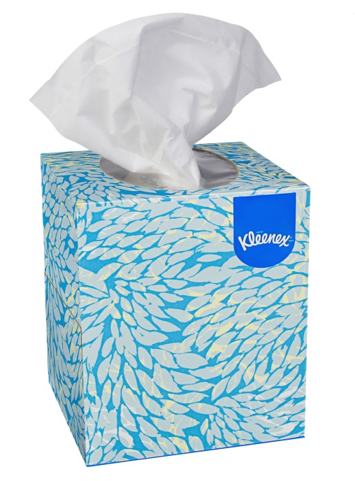 Kleenex White Facial Tissue  2-Ply, Pop-Up Box, 6 Boxes