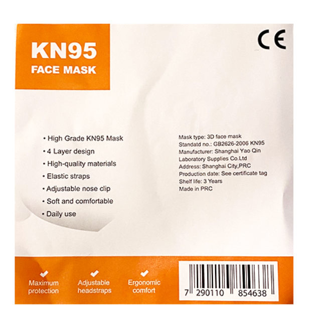 Protective Mask KN95 - 50 Pack