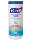Purell Hand Sanitizing Wipes Cloth 5.75 x 7 - 100 Wipes Canister