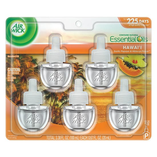 Air Wick 0.67 oz. Hawaii Scented Oil Refill (Pack of 5)