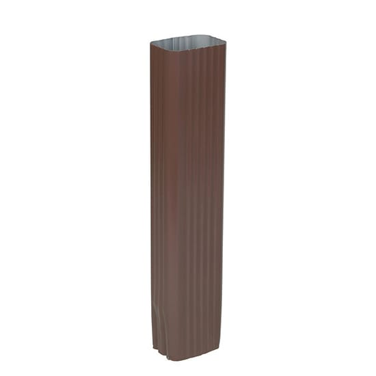 2 in. x 3 in. Brown Aluminum Downspout
