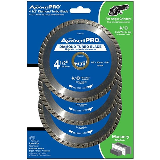 Avanti Pro 4.5 in. Turbo Diamond Blade (3-Pack)