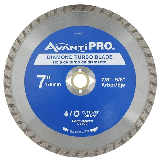 Avanti Pro 7 in. Turbo Diamond Blade